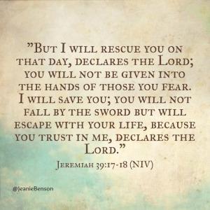 Jeremiah 39 17.18 niv