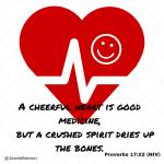 Social Media pic Proverbs 17 22 heart smile medicine