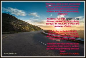 Hebrews 12 1 - 3 perseverance