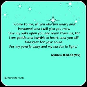 Matthew 11.28 30 niv