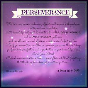 2 Peter 1.5 9 niv PERSEVERANCE 2016