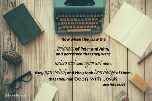 Acts 4.13 kjv