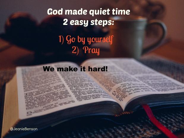 Quiet time steps
